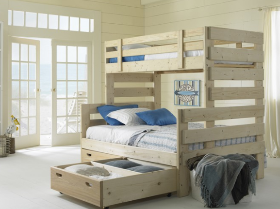 Twin Over Full Bunk Bed with Storage 577 x 432