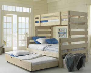 Twin Over Full Bunk Bed with Trundle Bed