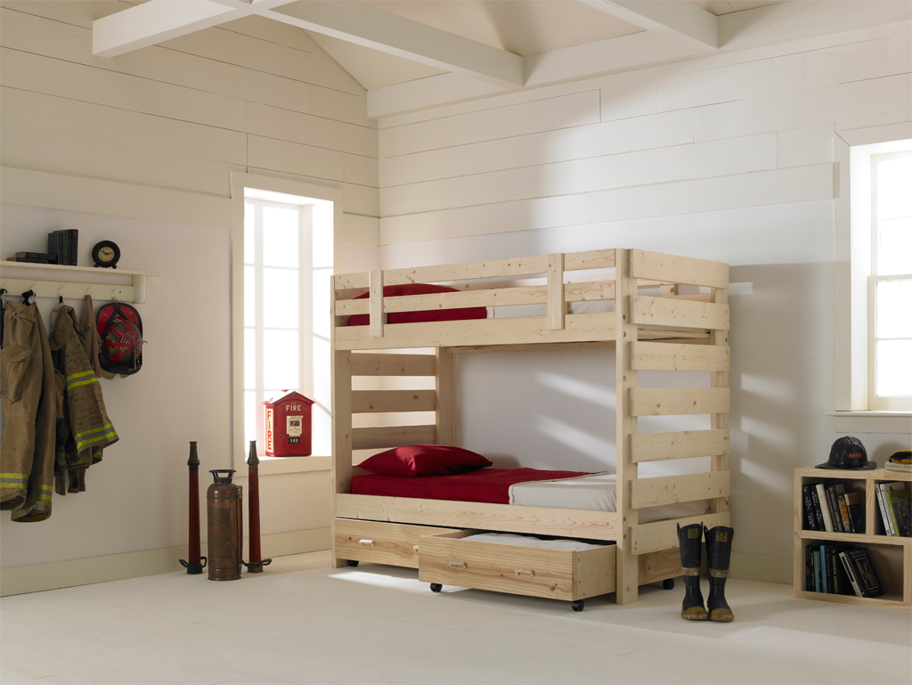 Firehouse beds and bunk beds from 1800bunkbed - Fireman bunk bed ...