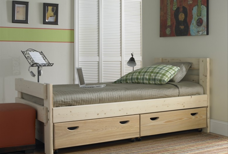 Captains Bed with Storage Drawers