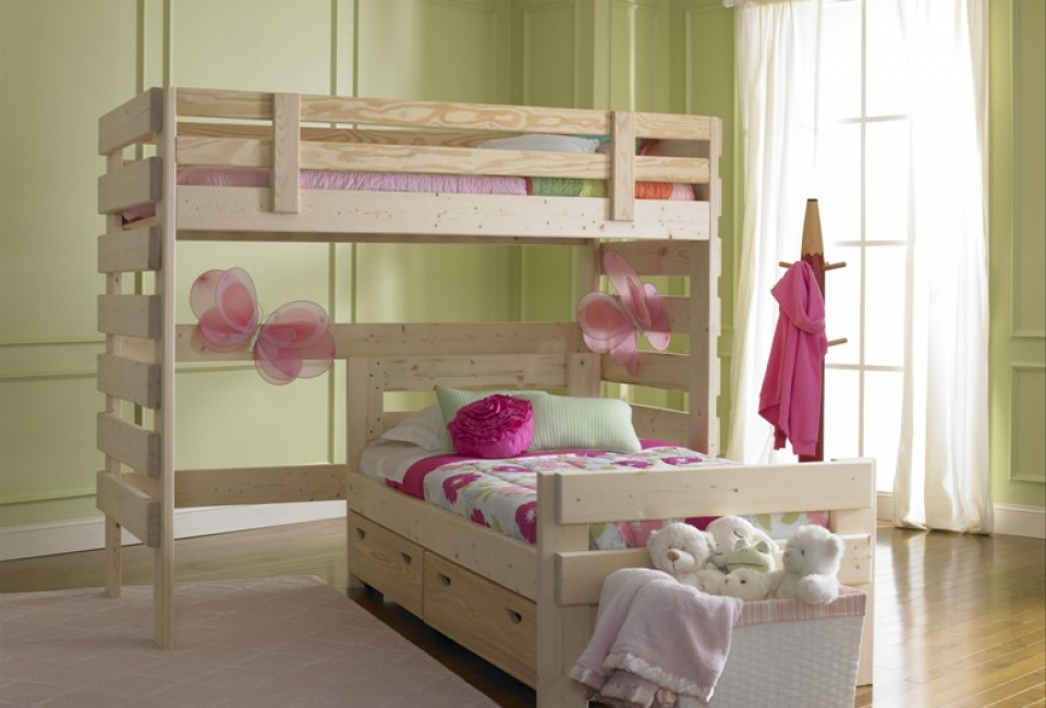 L Shaped Bunk Bed with Storage