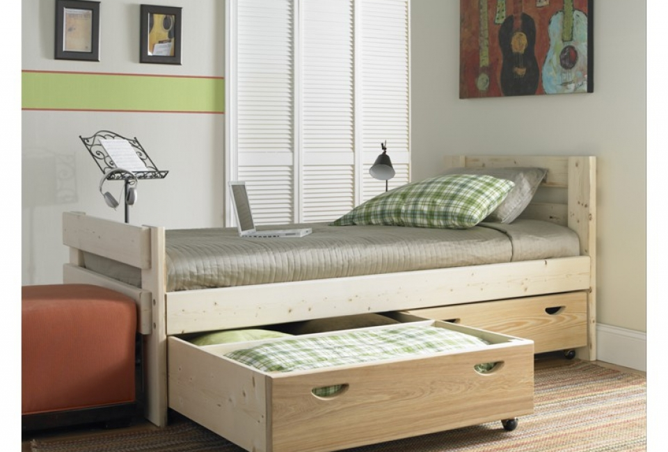Model 1 Twin Trundle with Open Drawers
